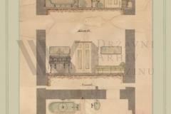 HR-DAPA-806 Obitelj Hütterott, [1862]1890–1945, 7.3. Nekretnine (1891-1943), 7.3.1. Otok Sv. Andrija (1891-1943), 6356 Nacrt kupaonice u vili na otoku Sv. Andrija koji su izradili Technisches Bureau C. Korte & Co (1905), kut. 18