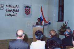 Predstavljanje izdanja održano je u Velikoj dvorani Državnog arhiva u Pazinu 26. veljače 1992. godine.
