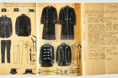 HR-DAPA-27, Kotarski kapetanat u Pazinu - Skice uniformi stražara u Pazinu 1900.