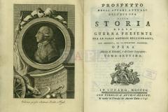 Prospeto degli affiari attuali dell' Europa ossia Storia della guerra presente fra le varie potenze belligeranti, tomo settimo, In Lugano, 1790.