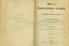 Meyers Konversations-Lexikon, Erste Band, A-Atlantiden, Liepzig, 1888.