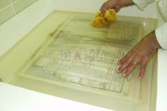 Pranje arka matične knjige u vodi, neutralizacija u vodenoj otopini